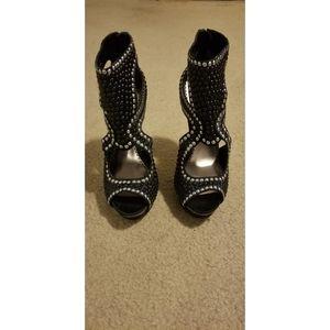 Bebe Open Toe Heels Size 9